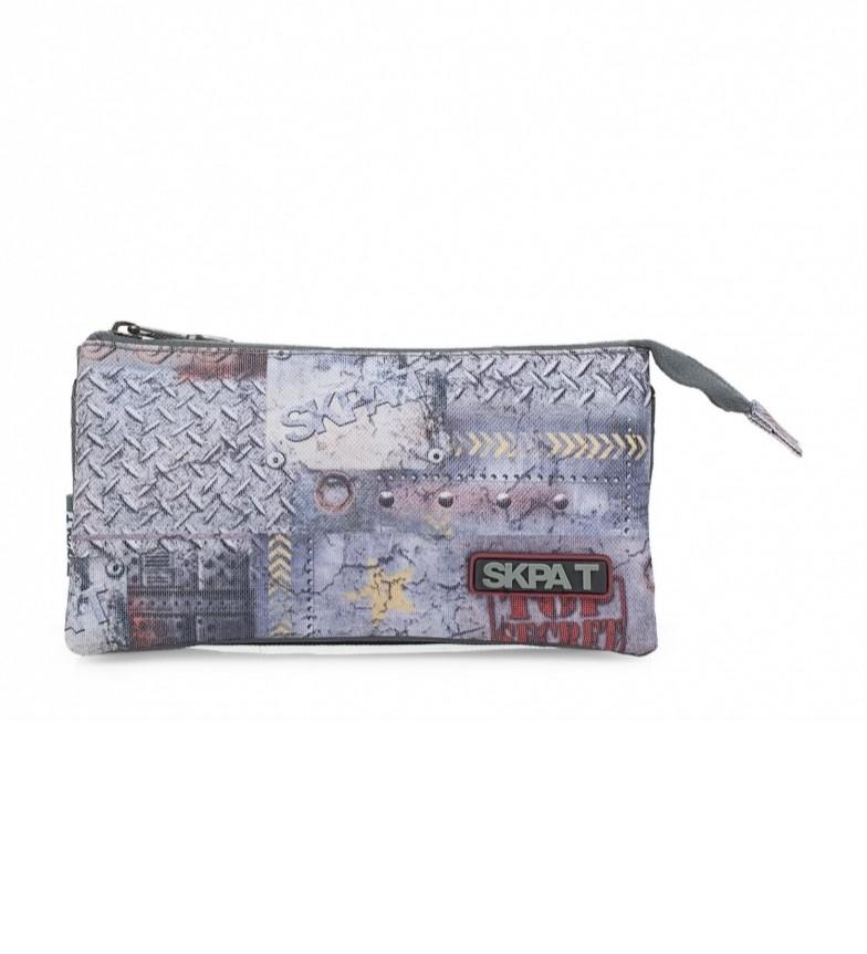 Comprar Skpat SKPAT Portaledo Triple School Line colore grigio -11x22x10-