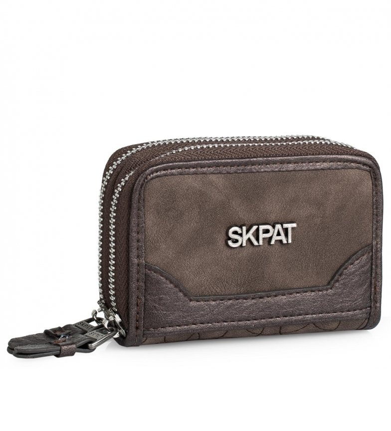 Comprar Skpat Portabiglietti da donna 303806 marrone -7x11x4cm