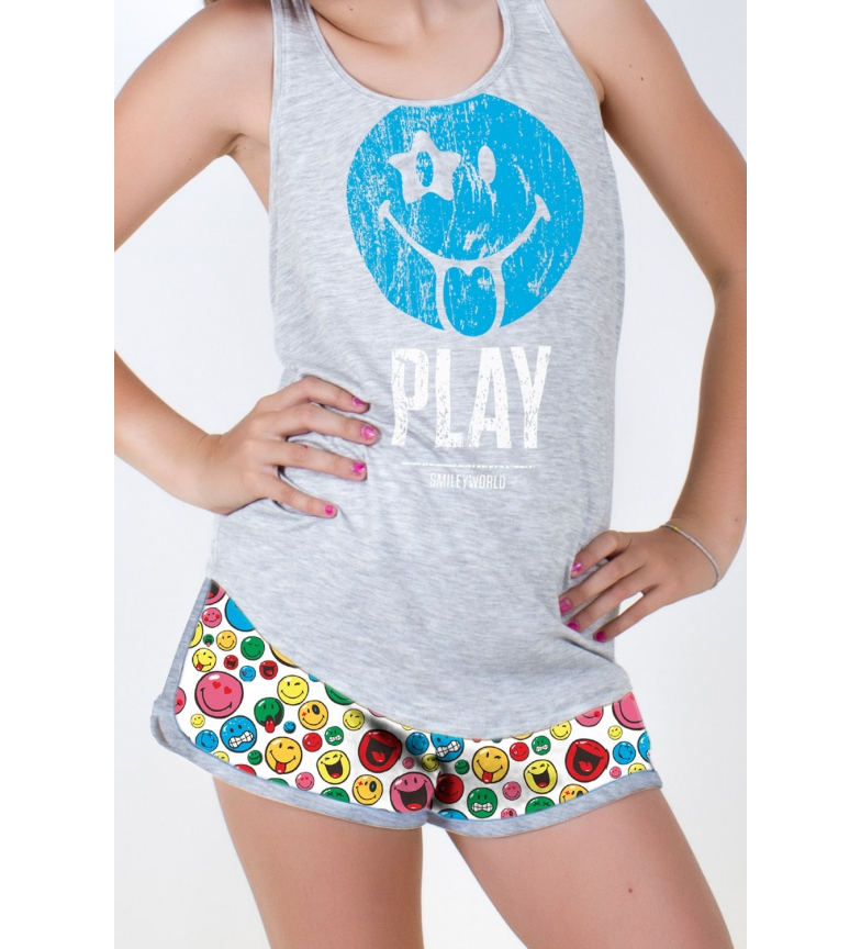 Comprar SMILEY Tween Iconic grey pyjamas