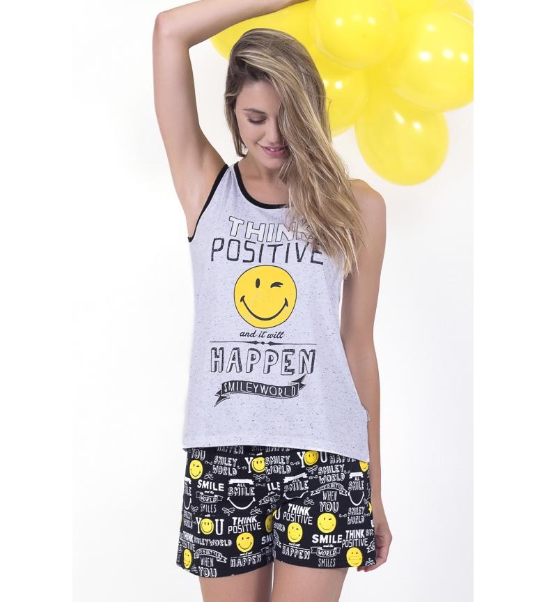 Comprar SMILEY Fundos de pijama positivos de mulheres brancas