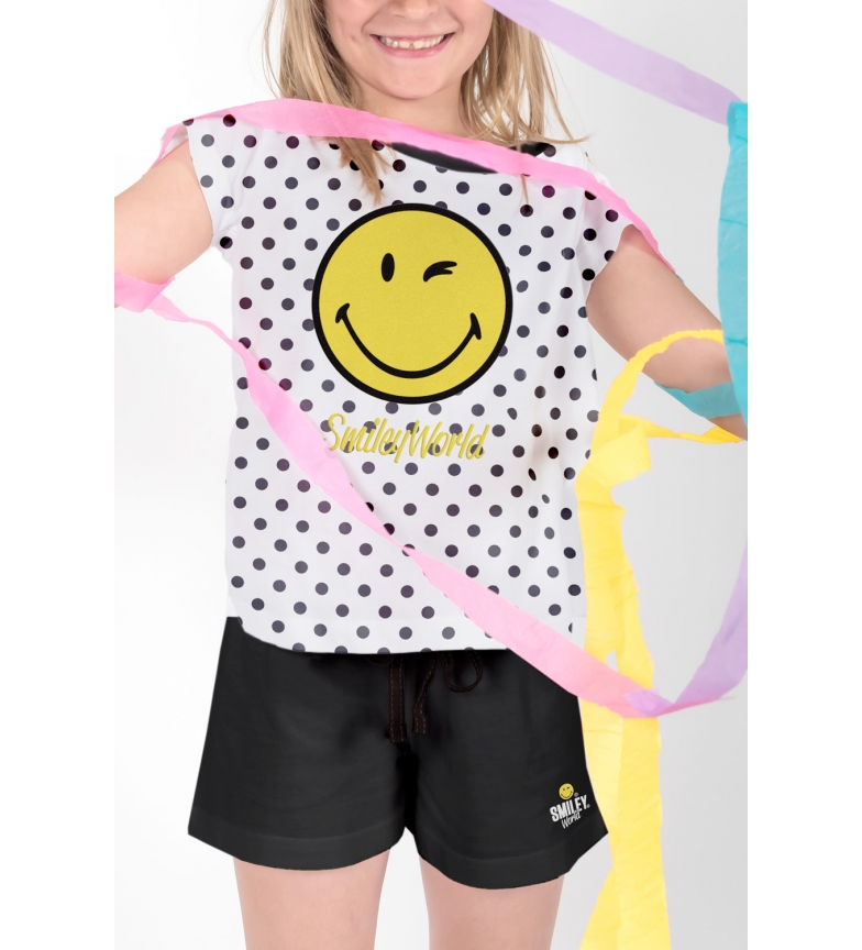Comprar SMILEY White Short Sleeve Dots Pajamas