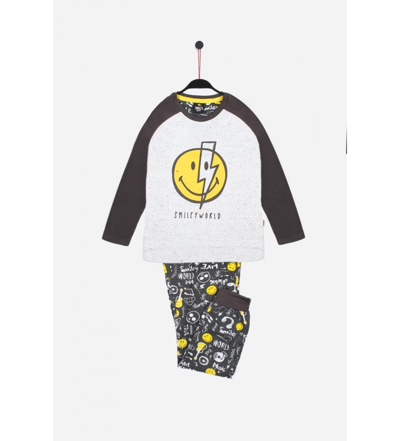 Comprar SMILEY Pyjama à manches longues Bowie blanc