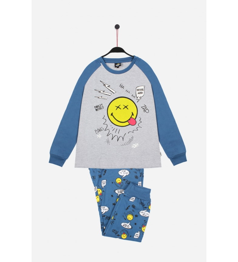 Comprar SMILEY Long Sleeve Pajamas Nevermind blue
