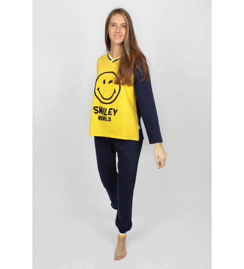 Comprar SMILEY Pajama Manga Comprida Fototipos amarelo