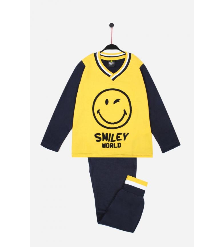 Comprar SMILEY Pigiami Fototipi Manica Lunga gialli