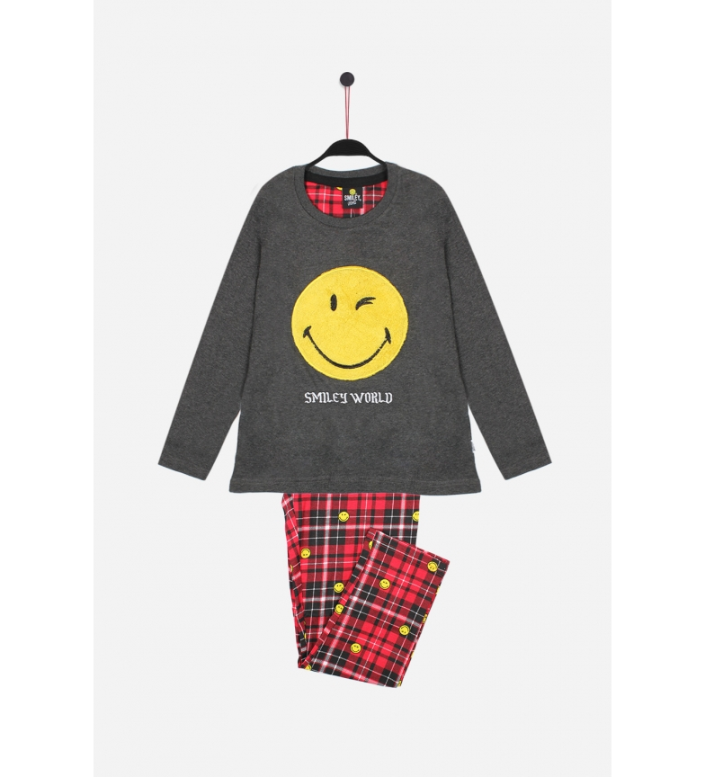 Comprar SMILEY Pijama Manga Larga Punk gris