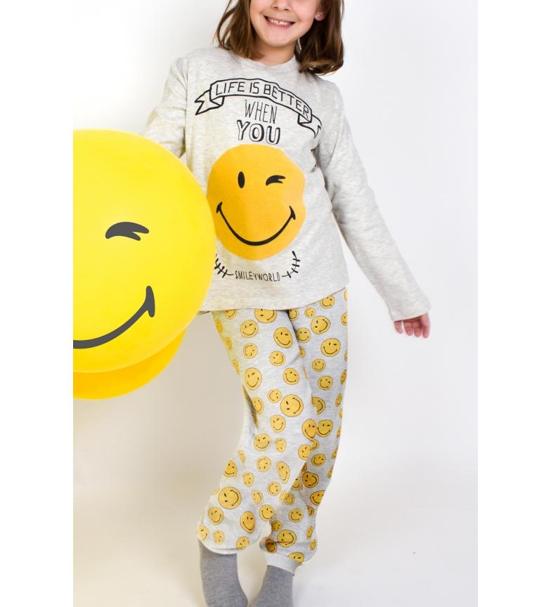 Comprar SMILEY Tween Smiley Better Long Sleeve Pajamas beige