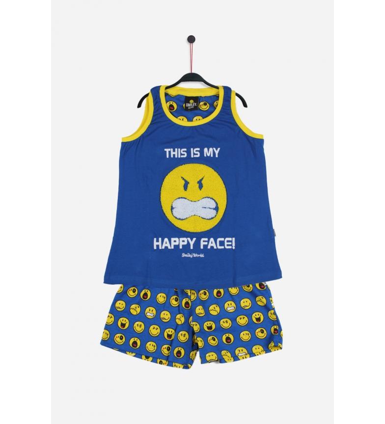 Comprar SMILEY Bretelles de pyjama Visage bleu