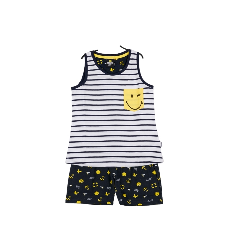 Comprar SMILEY Girl's Yellow Navy Girl's Pajamas with Straps