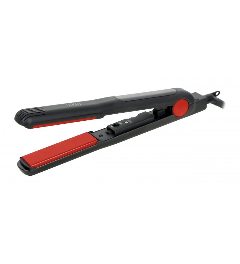 Comprar Sogo Fer à cheveux professionnel avec revêtement Torumaline noir et rouge / Plaque en aluminium - Puissance 30W