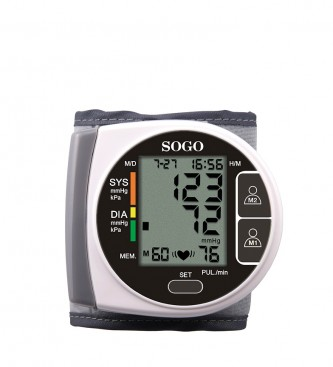 Comprar Sogo Poignet sphygmomanomètre brun SOGO numérique automatique -14x19x5cm-