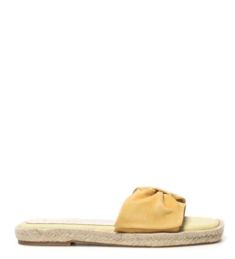 Comprar Som Ibiza Sandales en cuir jaune Canar