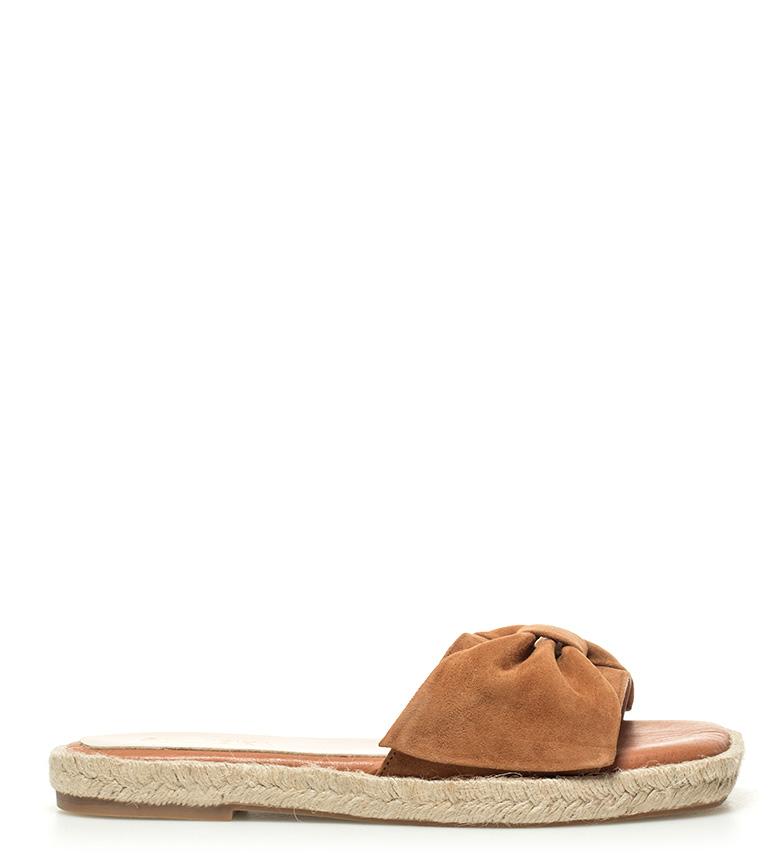 Comprar Som Ibiza Sandalias de piel Canar marrón