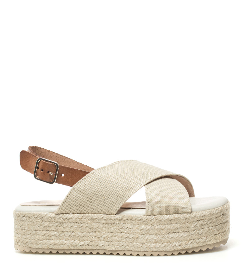 Comprar Som Ibiza Sandalias de piel Llonga taupe -Altura plataforma: 4,5cm-