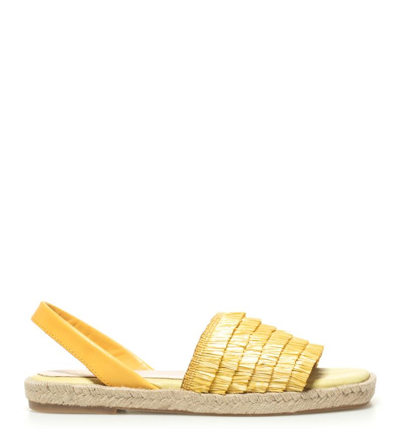 Comprar Som Ibiza Sandales en cuir salé jaune