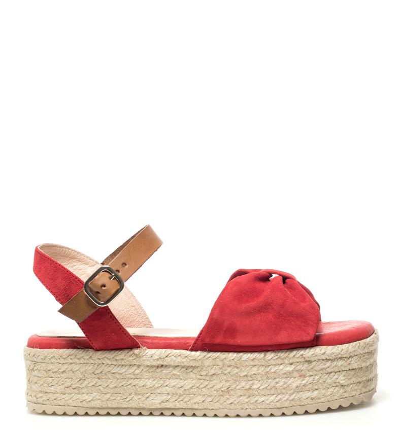 Comprar  Sandalias de piel Xarraca rojo -Altura plataforma: 4,5 cm-