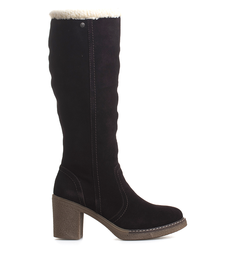 Comprar Sonnax Xena brown leather boots -Heel height: 8 cm