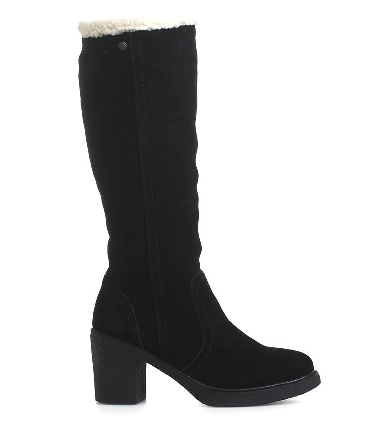 Comprar Sonnax Xena leather boots black -heel height: 8 cm