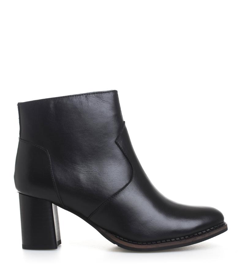 Comprar Sonnax Abby bottes en cuir noir - hauteur talon : 6.5cm
