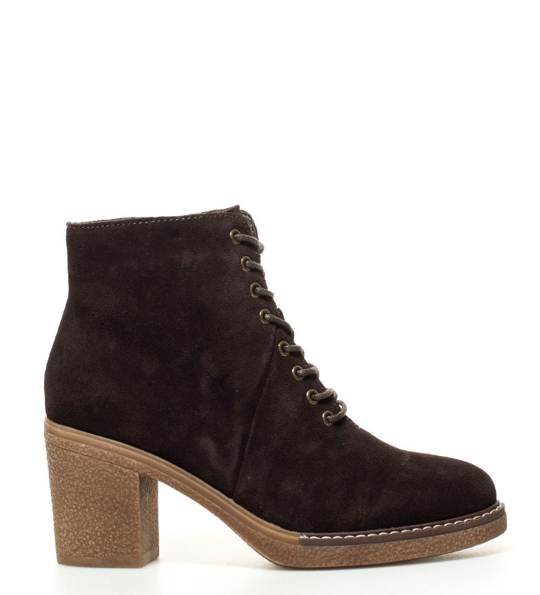 Comprar Sonnax Ankle boots brown leather -Heel height: 8 cm-
