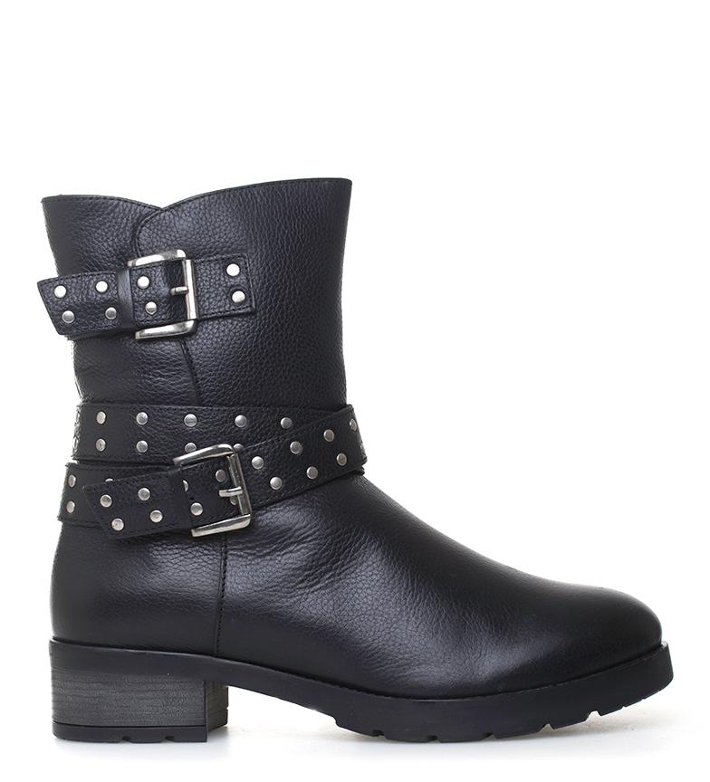 Comprar Sonnax Barbara leather boots black -heel height: 4 cm