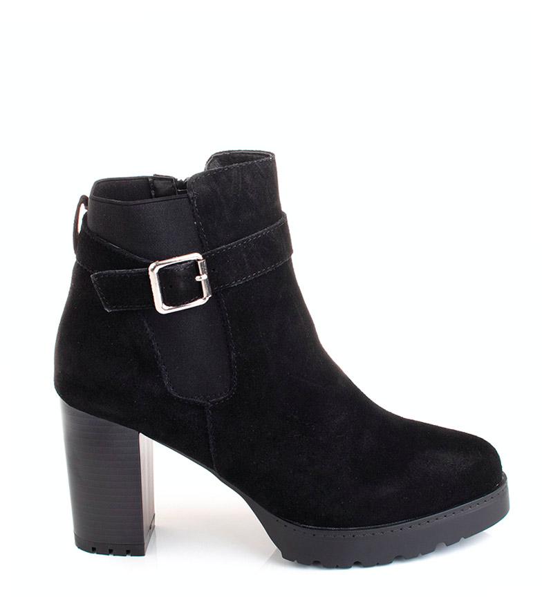 Comprar Sonnax Bottes en cuir noir Chiara - hauteur talon : 9 cm-