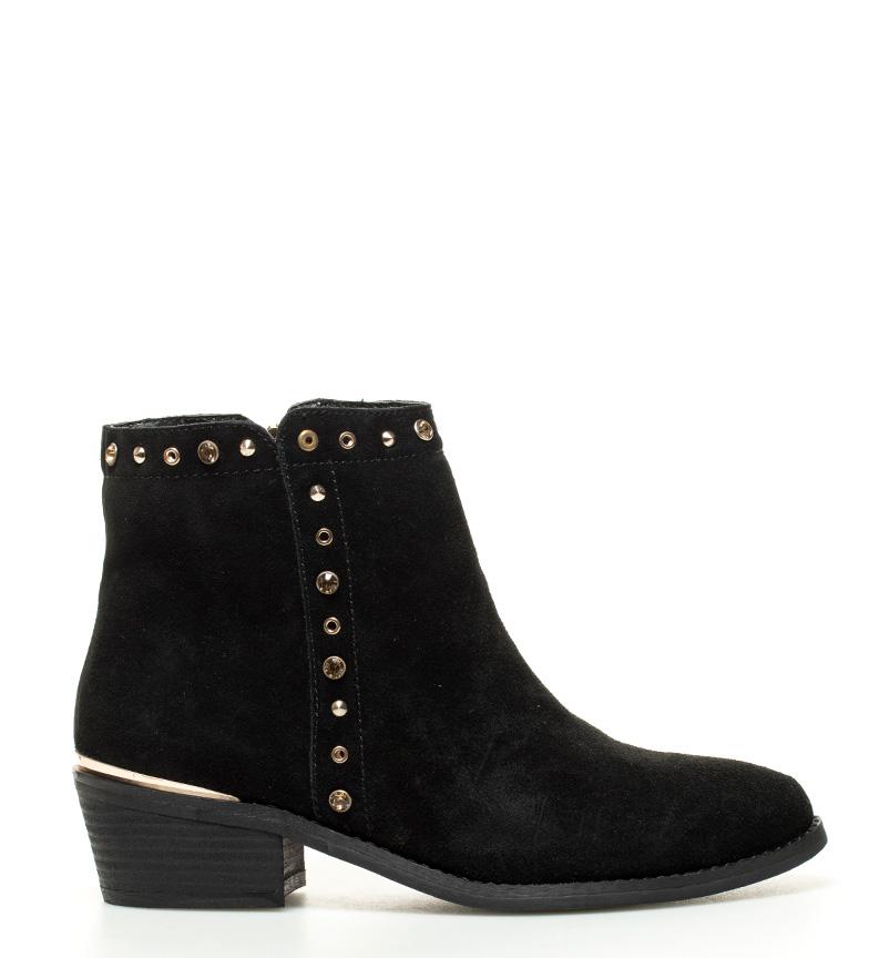 Comprar Sonnax Black Greta leather ankle boots - Heel height: 5cm-