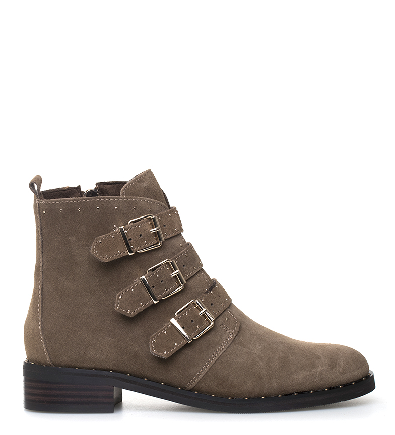 Comprar Sonnax Penny taupe leather boots -Heel height: 3.5cm