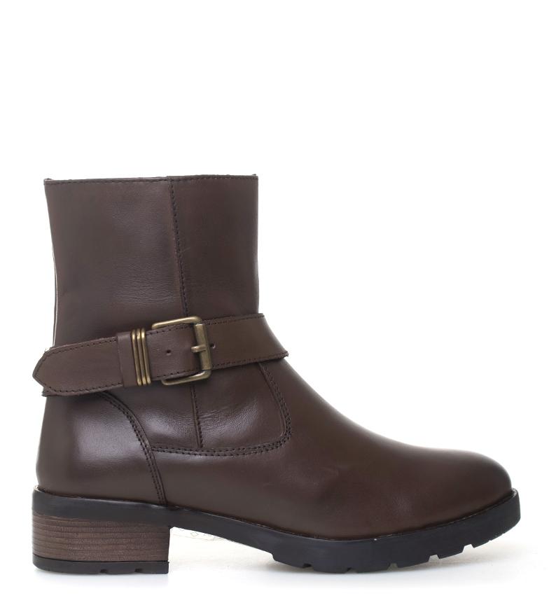 Comprar Sonnax Stivali in pelle marrone Suki - altezza tacco: 4 cm