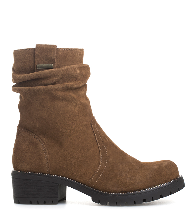 Comprar Sonnax Vera camel leather boots -heel height: 5 cm