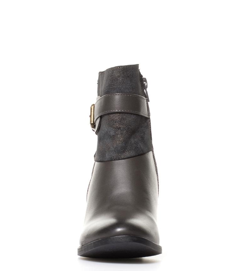 Sonnax Botines en contraste de tejidos Kaja marrón Altura tacón: 7cm