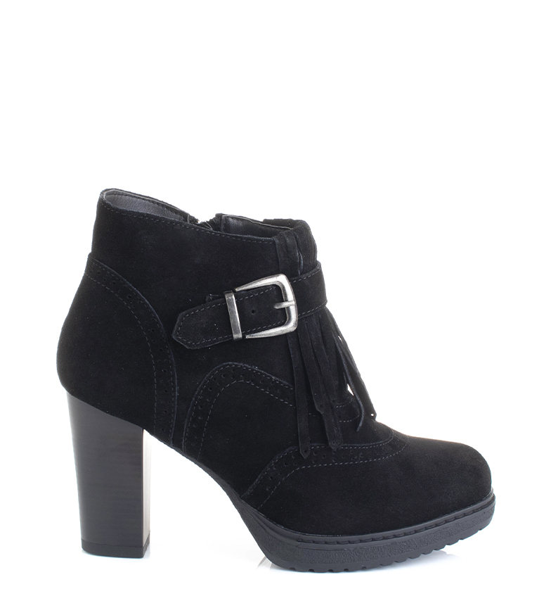 Comprar Sonnax Black Selena leather boots -heel height: 9cm