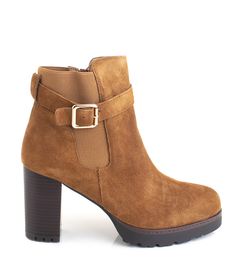 Comprar Sonnax Chiara leather boots camel -heel height: 9 cm-