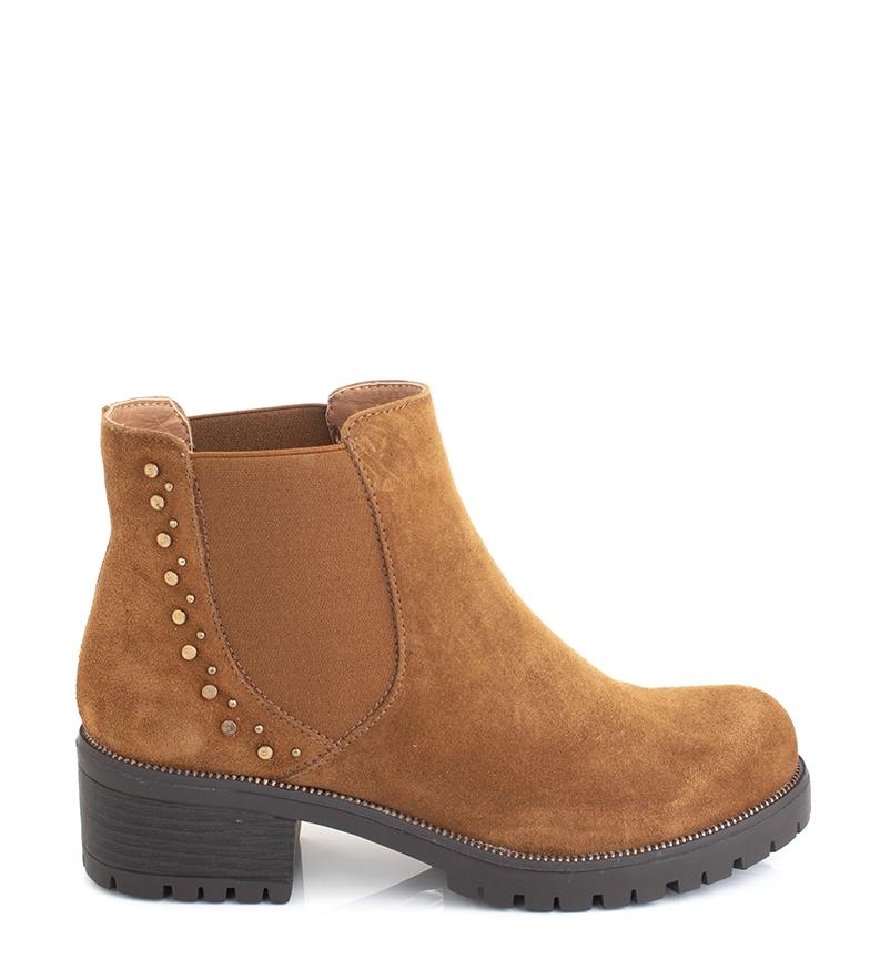 Comprar Sonnax Cora camel leather boots -heel height: 5 cm