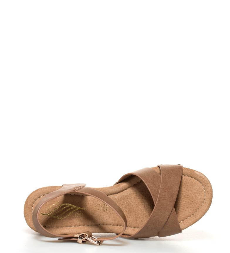 Sonnax Sandalias Brewa marrón Altura cuña: 12cm