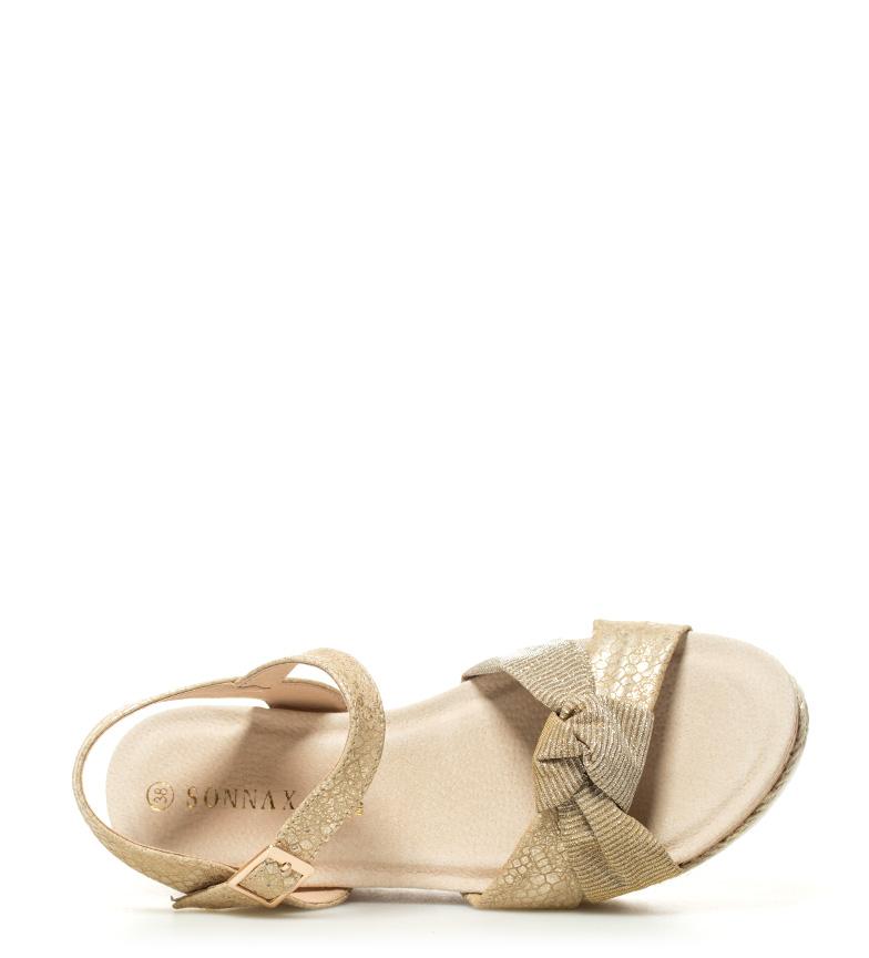 Sonnax dorado Sandalias cuña 6 Altura 5cm Coco 8p8wxrq