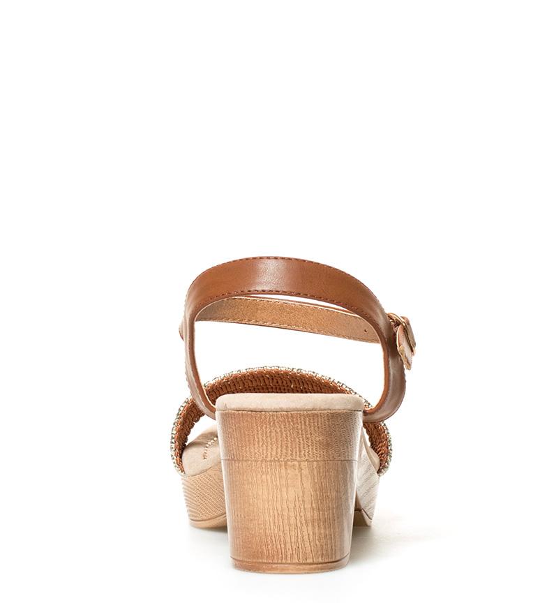 Sonnax Sandalias en marrón con plateado Altura tacón: 7cm