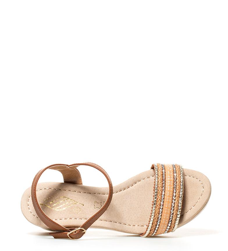 marrón 7cm con br plateado Altura Sonnax en br Sandalias tacón zF1aEznxf