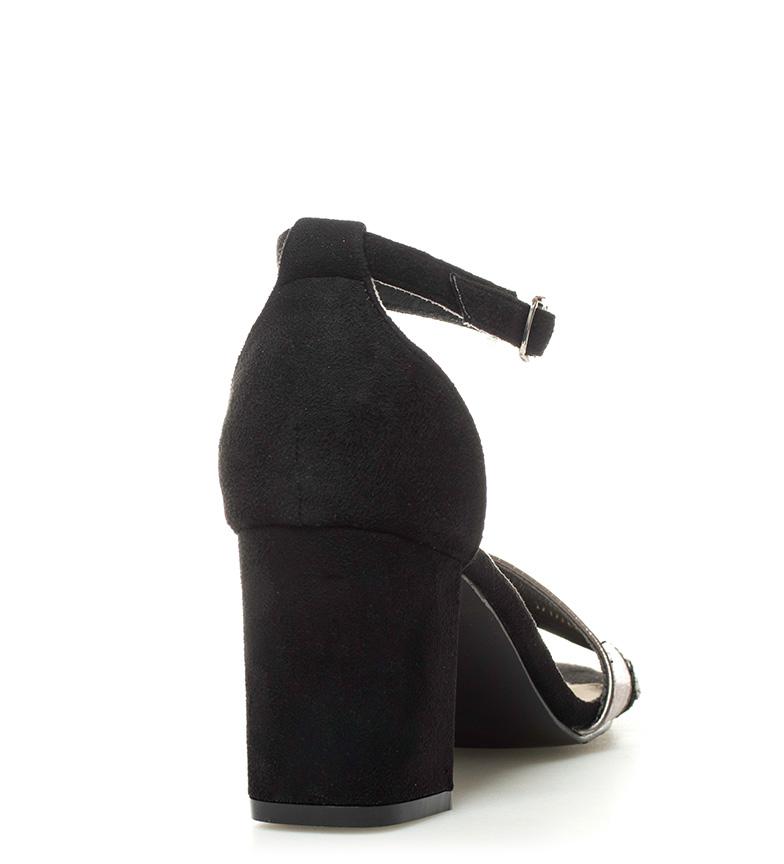 Hisa Altura tacón negro Sandalias 7cm Sonnax YqSwF6
