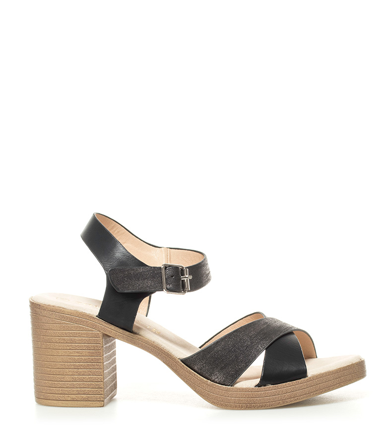 Comprar Sonnax Sandals Portla black - Heel height: 7,5cm-