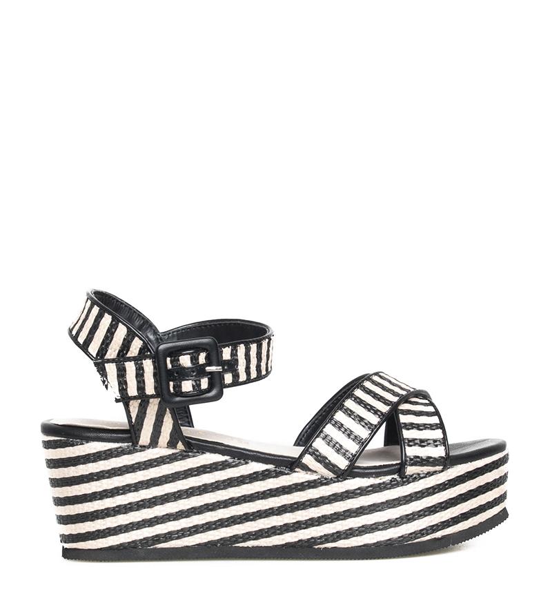 Comprar Sonnax Sandals Rosaura white, black - Wedge height: 7cm