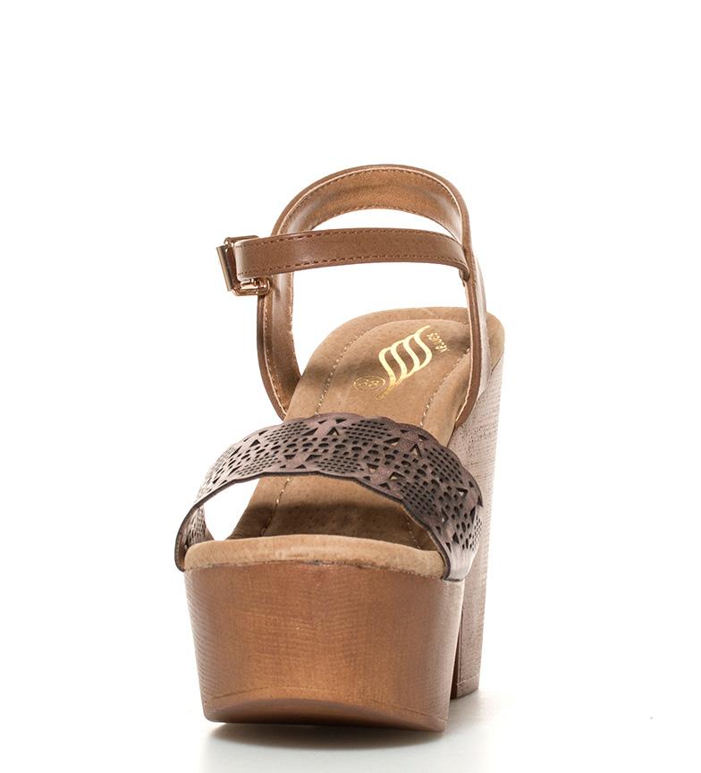 bronce br 5cm Altura 12 marrón br Sonnax Sandalias tacón Siwar 4qHBEB