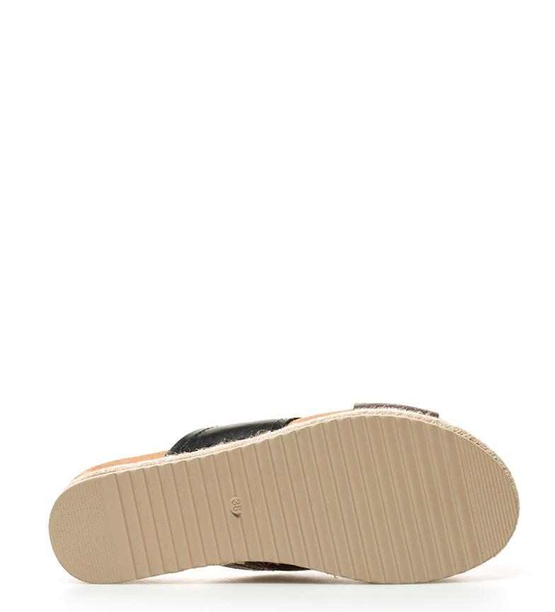 plateado 5cm Altura tiras Sonnax negro Sandalias Sandalias plataforma cruzadas Sonnax qgYHwgv