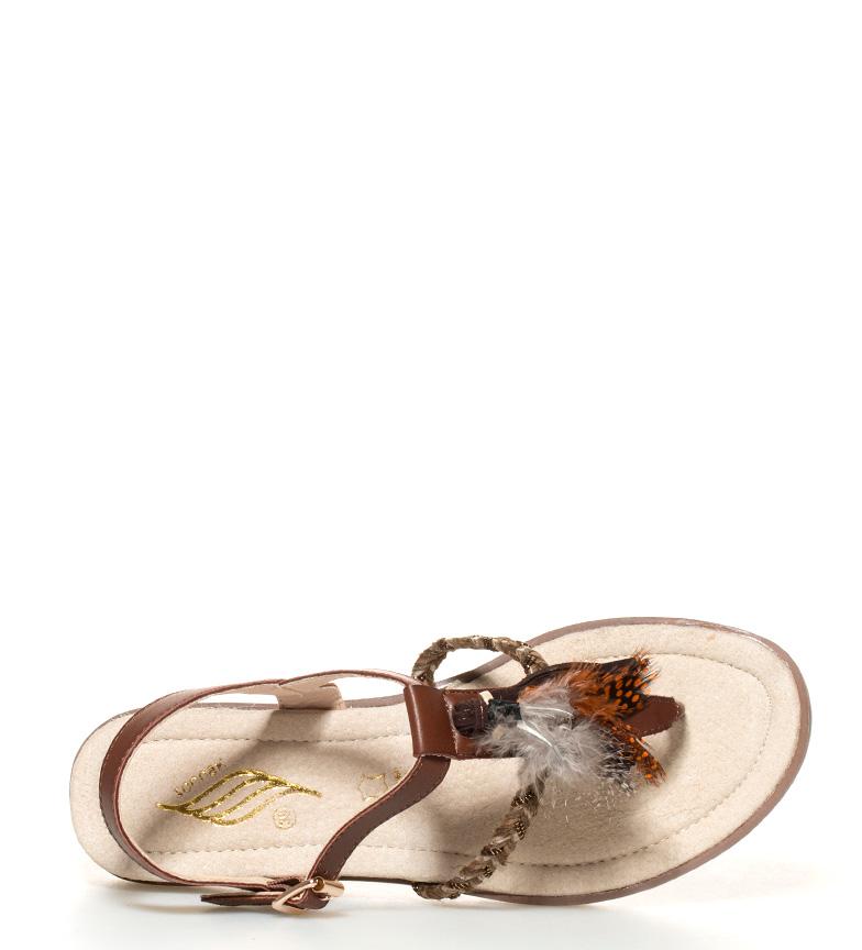 Tiwa Sandalias br Tiwa Sandalias marrón cuña 4cm Sonnax br Altura Sonnax gRnqTFa
