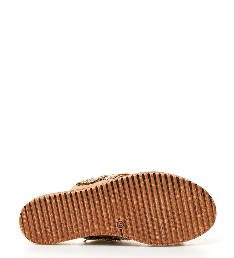 Sandalias étnicas 50cm Altura beige Sonnax 4 suela vdqOq