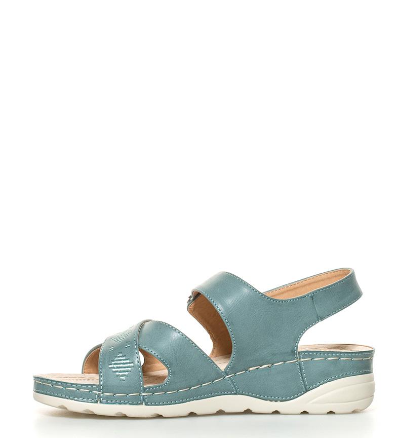 Sandalias Altura suela azul Sonnax 4cm verdoso Weli 7Zw7qCxd1n