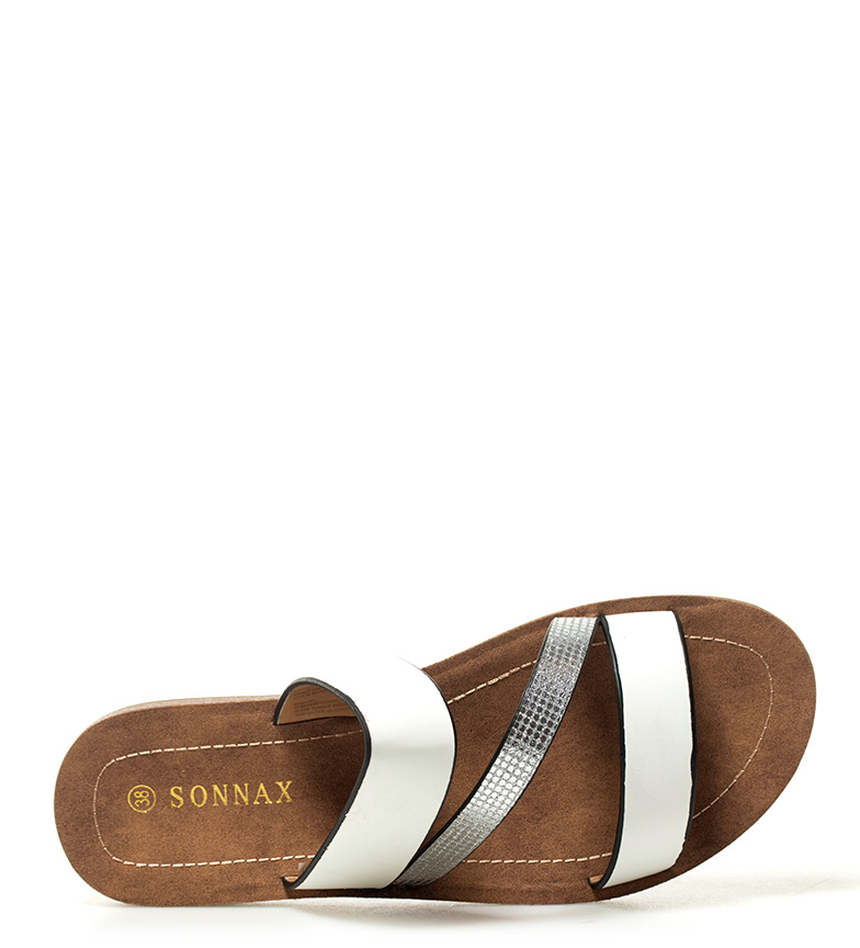 Sonnax blanco Geno Sandalias Sandalias Sonnax 64WdR6vq
