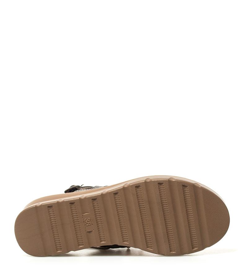 3 cuña Belén Altura gris Sandalias 5cm Sonnax WUqHzz