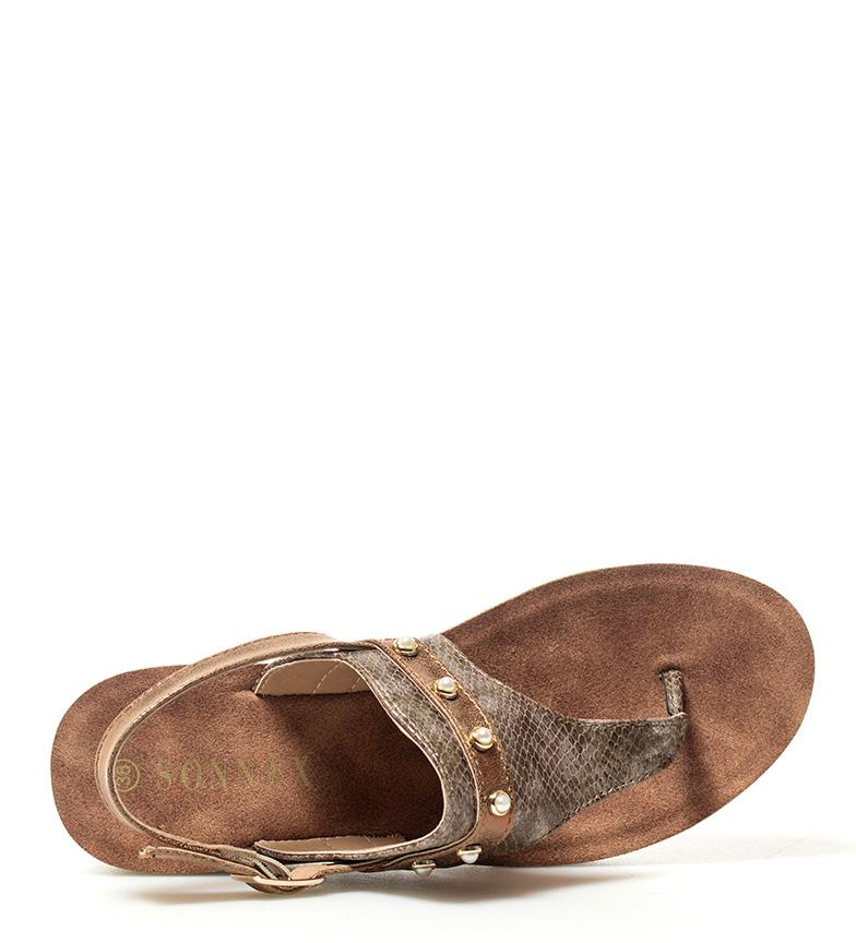 cuña marrón Altura Sandalias Sonnax 5cm 3 Belén BqEtzfxwI
