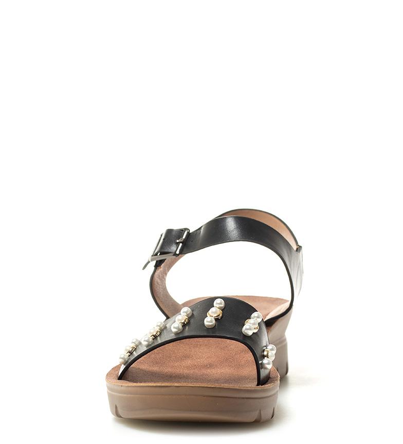 Altura 4cm Sonnax Nela negro Sandalias cuña wqS1tq